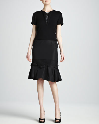 Carolina Herrera Skirt with Ruffle