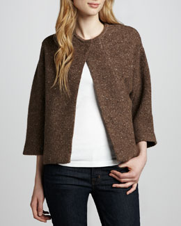 Carolina Herrera Swing Sweater Jacket