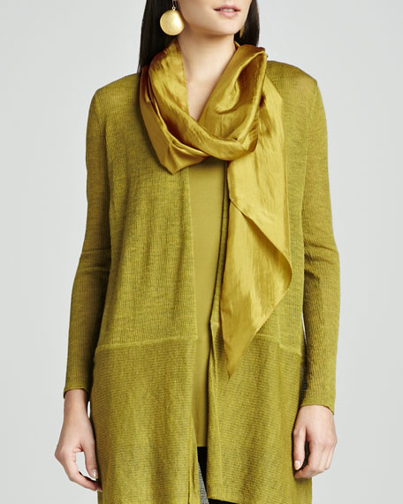 Cross-Dye Whisper Silk Wrap, Peridot