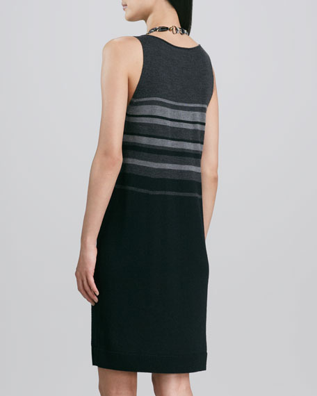 Tonal Striped Jersey Dress
