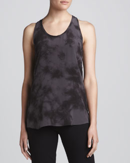 Eileen Fisher Silk Shibori Long Tank