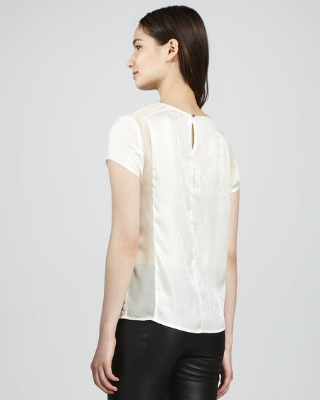 Sontang Sheer-Inset Blouse