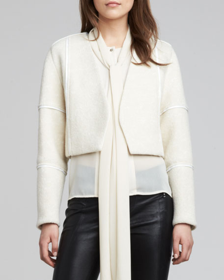 Luce Leather-Trim Jacket