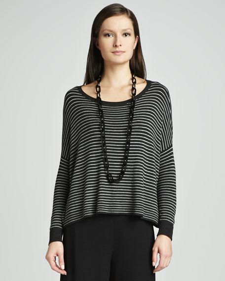 Cozy Striped Box Top, Petite