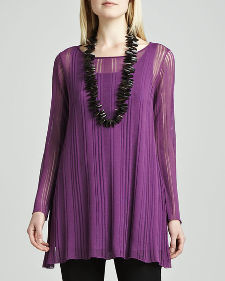 Airy Linear Long Tunic