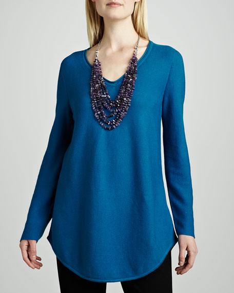 Organic Cotton V-Neck Shirttail Tunic
