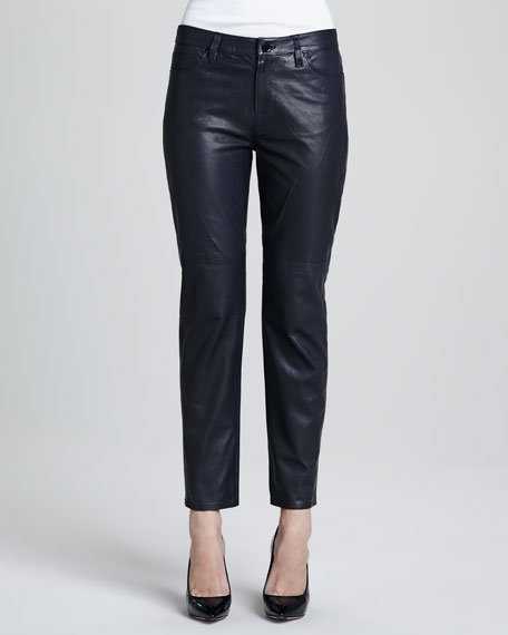 Paulette Cropped Leather Pants