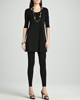 Eileen Fisher Jersey Ankle Leggings, Petite