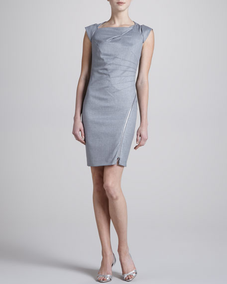 Folded Metallic Dress
