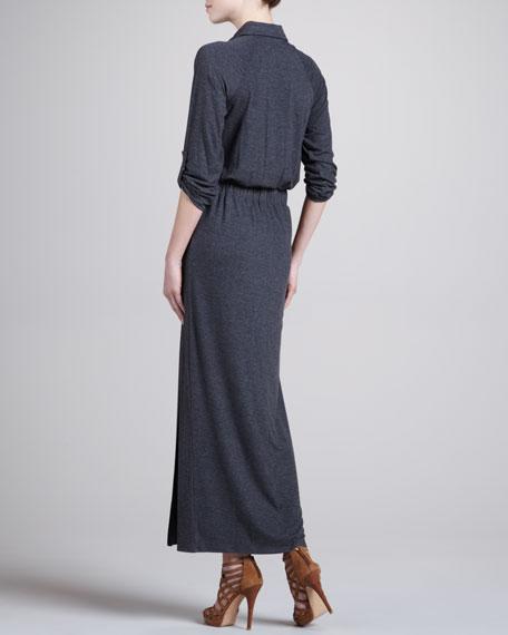 Heathered Knit Maxi Dress