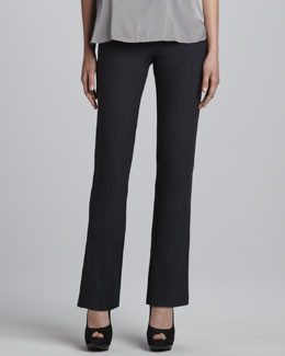Eileen Fisher Washable Crepe Slim Boot-Cut Pants, Women's