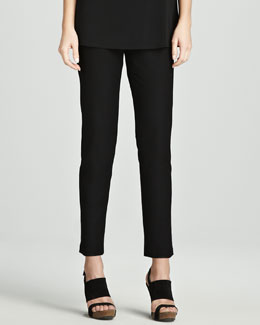 Eileen Fisher Slim Stretch Crepe Ankle Pants, Petite