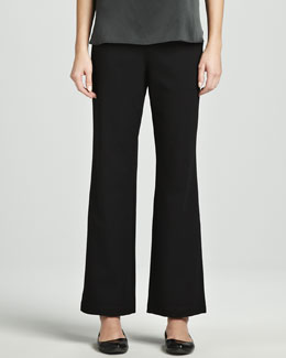 Eileen Fisher Ponte Straight-Leg Pants, Petite