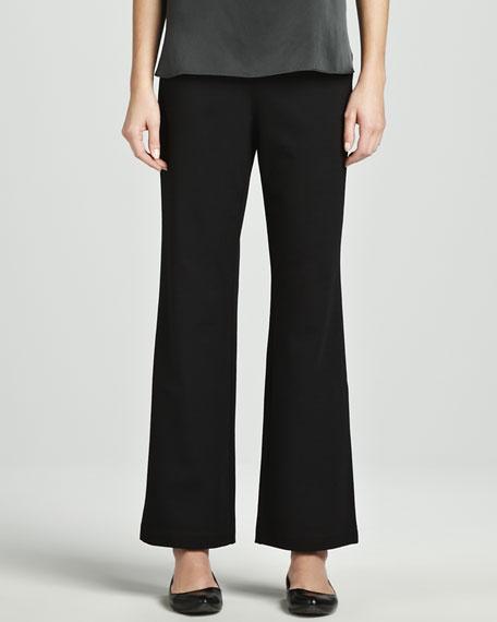 Ponte Straight-Leg Pants, Petite