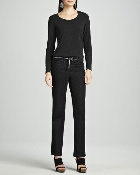 Organic Soft Straight-Leg Jeans, Petite