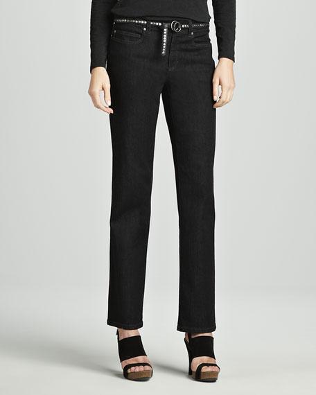 Organic Soft Straight-Leg Jeans, Women's