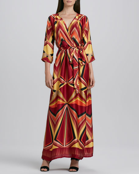 Printed Charmeuse Maxi Dress