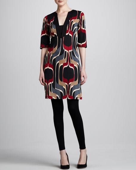 Printed Ponte Tunic Dress, Women's