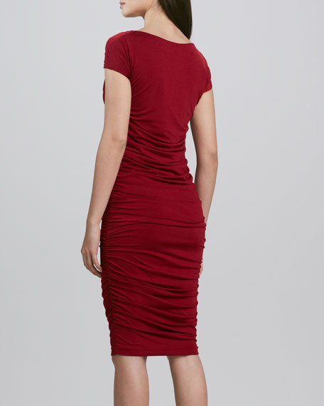 Sheath Dress with Ruching, Women's
