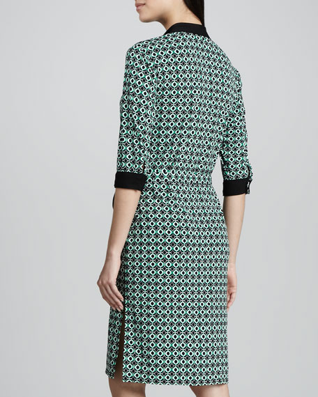 Tile-Print Jersey Dress, Women's