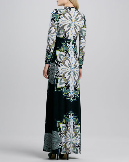Printed Lux Long Dress, Women's