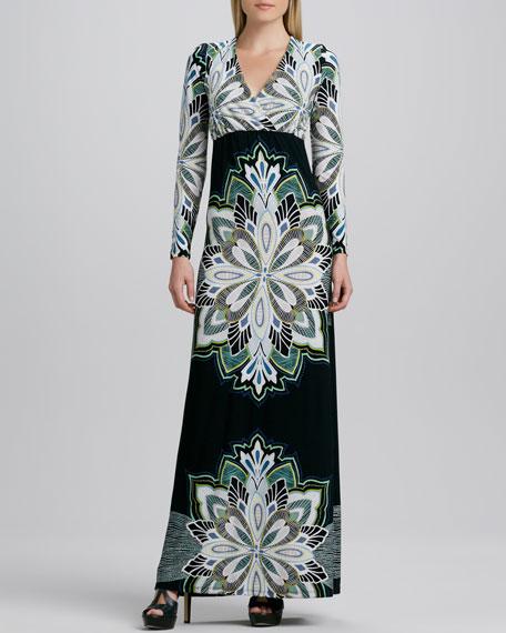 Printed Lux Long Dress, Women's