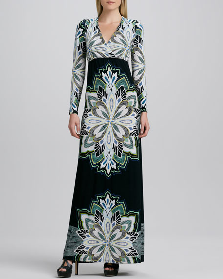 Printed Lux Long Dress
