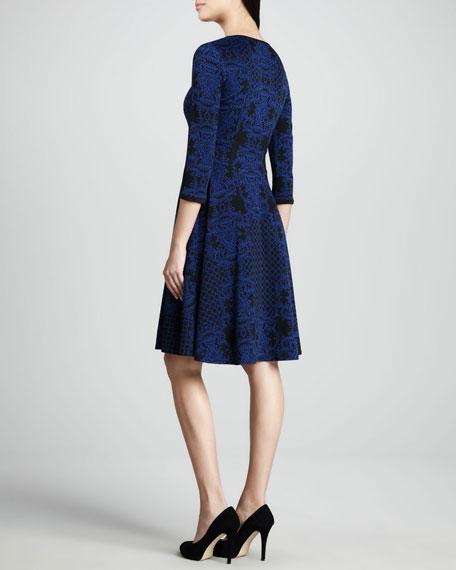 Jacquard Scoop-Neck Dress, Women's
