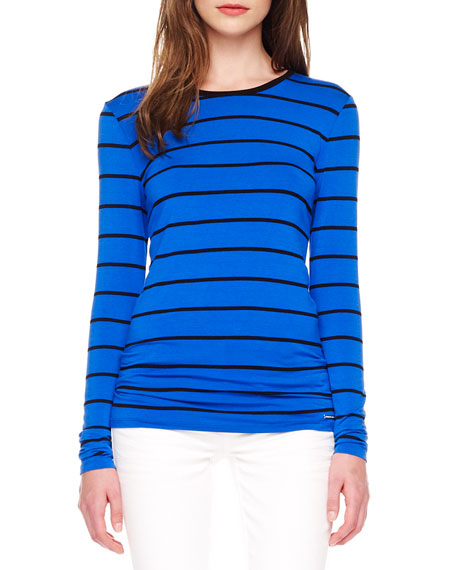 Striped Crewneck Tee, Women's