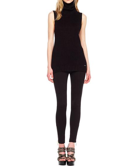 Ankle-Zip Skinny Pants, Women's