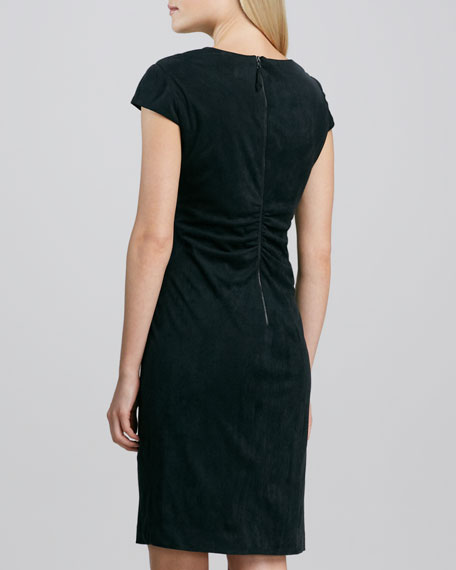 Cap-Sleeve Ruch-Back Dress