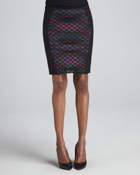 Diamond Horizon Pencil Skirt