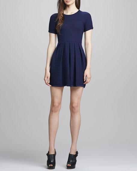 Full-Skirt Merino Sweaterdress