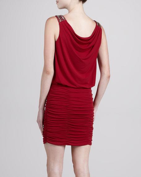 Embellished-Shoulder Dress