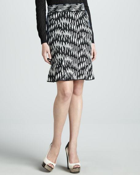 Broken Zigzag-Print Skirt