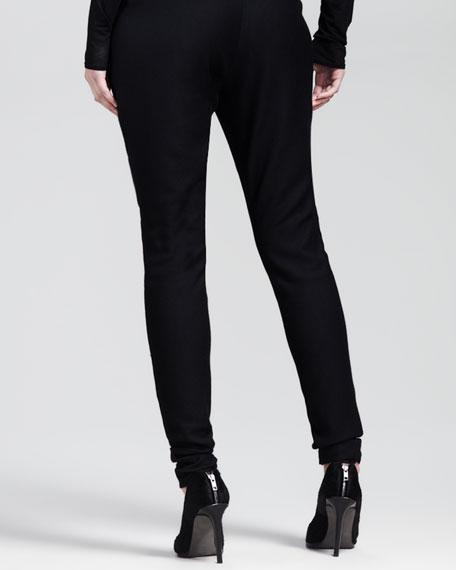 Linear Drape Skinny Trousers
