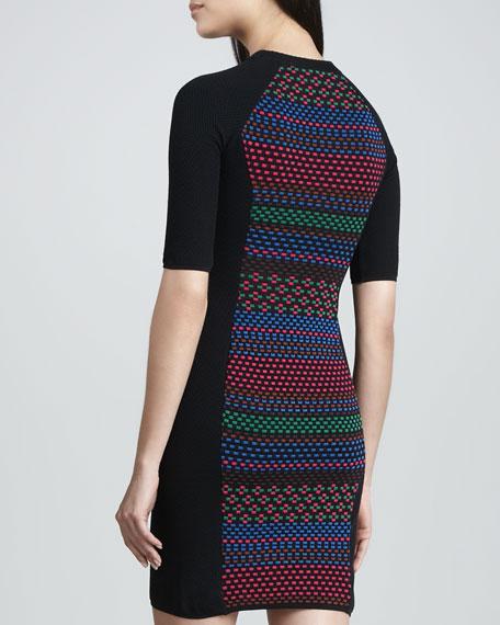 Colorful Cube Paneled Dress