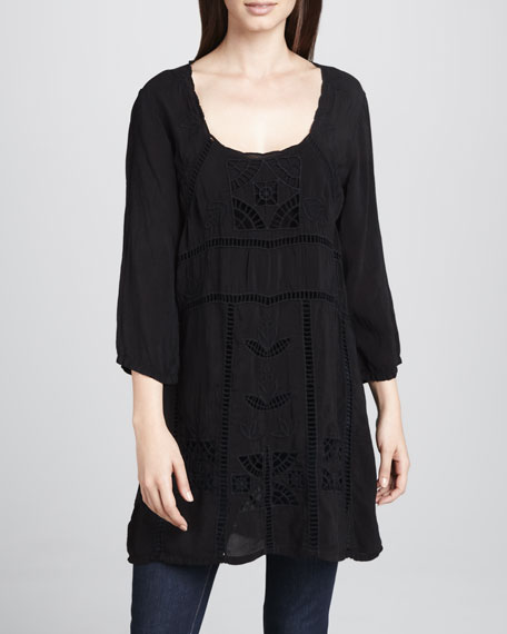Kaila Long Embroidered Tunic, Classic