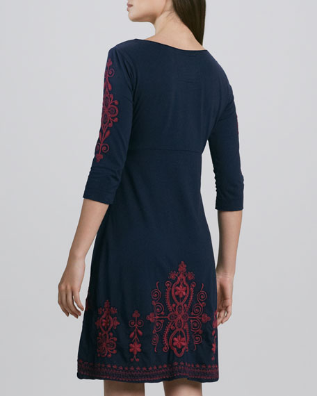 Claudine Embroidered Dress