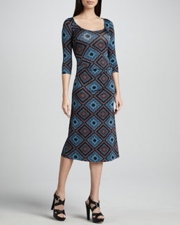 Rachel Pally Amelie Deco Squares Dress