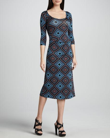 Amelie Deco Squares Dress, Women's