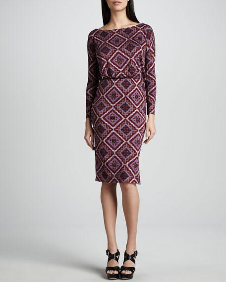 Brett Pindot Deco Squares Jersey Dress, Women's