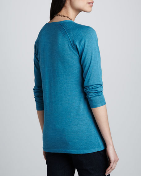 Round-Neck Merino Wool Top