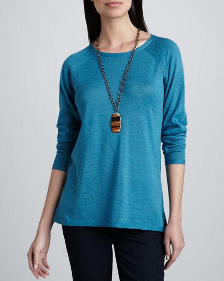 Round-Neck Merino Wool Top