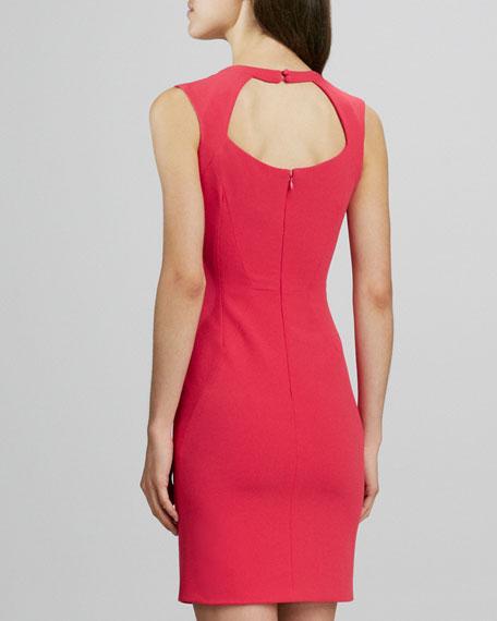 Sheath Dress with Cutout Neck