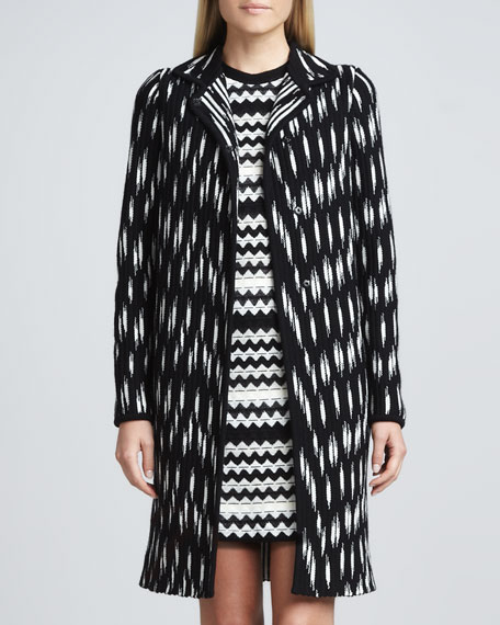 Broken Zigzag Knit Coat