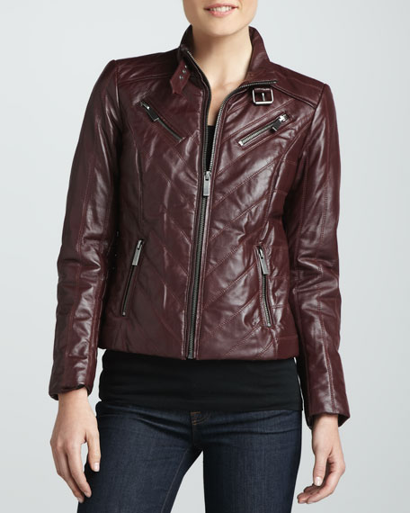 Four-Zip Leather Jacket