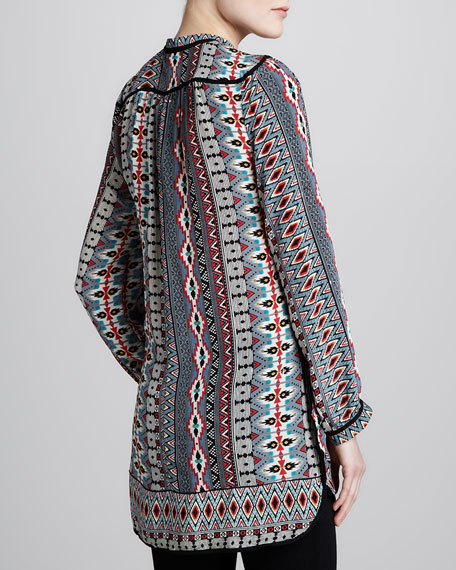 Natasha Red Print Tunic