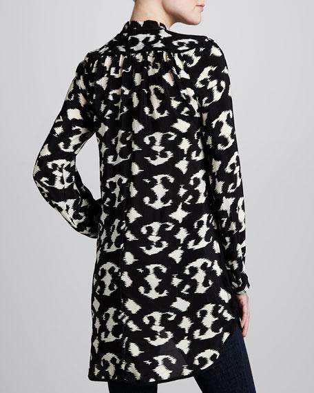 Black/White Natasha Print Tunic