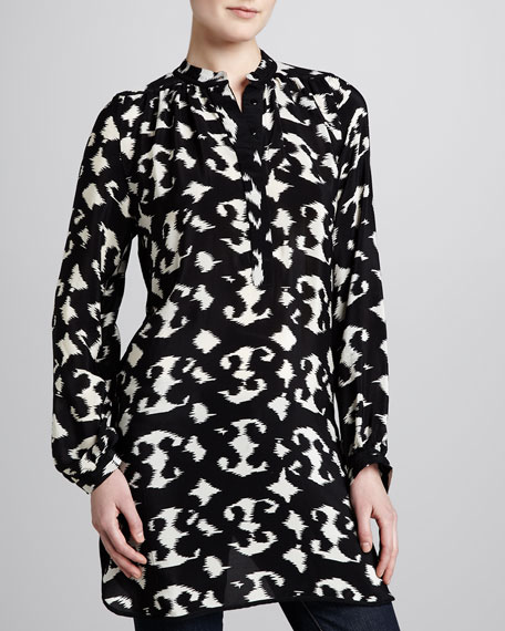 Black/White Natasha Print Tunic